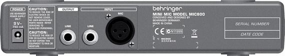 Микрофонный предусилитель BEHRINGER MIC800